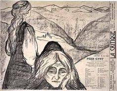 """Edvard Munk: poster za Grigovo delo """"Per Gint"""""""