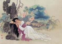 China - artists  Ms. Wang Meifang, Mr.  Zhao Guojing.  A number of lovely paintings by these two  ......  unique and restful.