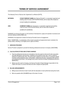 Free Service Contract Template Lovely Terms Of Service Agreement Template & Sample form Service Level Agreement, Contract Agreement, Terms Of Service, Cleaning Contracts, Cleaning Service, Construction Contract, Event Planning Template, Quote Template, Website Services