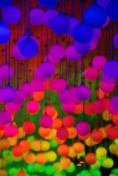 Put glow sticks in balloons and hang them from the ceiling or trees.. I am so going to do this one day