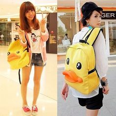 24.50$  Buy now - http://viqmp.justgood.pw/vig/item.php?t=1bcefb42854 - Kawaii Clothing Bag Backpack Mochila Duck Bird Ropa Harajuku Korean Japanese Emo