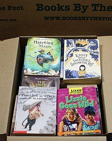 Books by the Box - Books by the Foot, such a cool idea. General children's books (toddler-young adult) $12.99 for 150 books. Grade Specific $30.