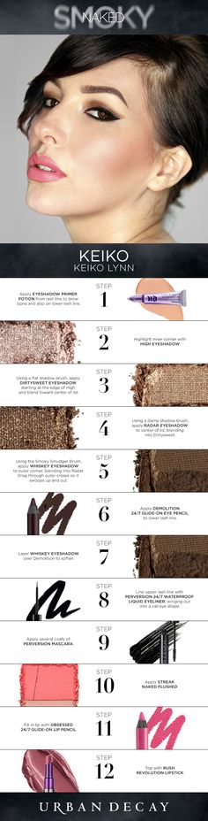 55 Trendy Ideas for eye shadow tutorial drawing urban decay Makeup Goals, Makeup Tips, Beauty Makeup, Makeup Products, Beauty Dupes, Drugstore Makeup, Makeup Ideas, Beauty Products, Palette Urban Decay