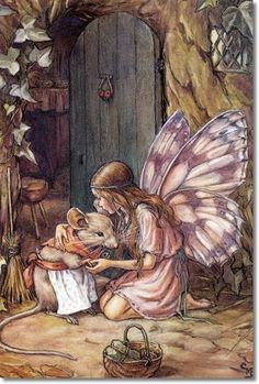 Cicely Mary Barker - Other Miscellaneous Works - A Fairy Went A-Marketing Painting