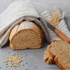 Geniales Gerstenbrot Bread, Food, Dinner Rolls Recipe, Chef Recipes, Rye Bread, Oven, Easy Meals, Breads, Baking