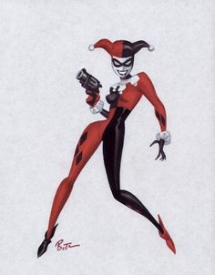 Original Harley Quinn look, but I want to go for a stylized version (so I can avoid the full body spandex lol)