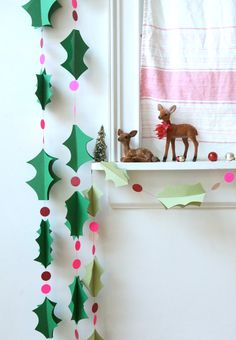 Urlaub Weihnachten Stechpalme Girlande dunkelgrün von chiarabelle