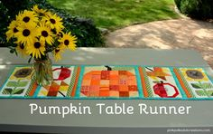 Quilted Pumpkin Table Runner. Pattern from Lori Holt's Farm Girl Vintage book. I…