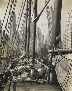 "Berenice Abbott ""Theoline"", Pier 11, East River, Manhattan (from series, Changing New York)"