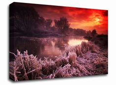 Winter Lake at First Light landscape canvas from only £19.99 at Infusion Art http://www.infusionart.co.uk/products/Winter-Lake-at-First-Light-259491.aspx