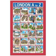 【Ulster Weavers】London A-Z Linen Tea TowelロンドンA-Z リネンティータオル - イギリス雑貨と紅茶とハーブティーのお店 English Specialities