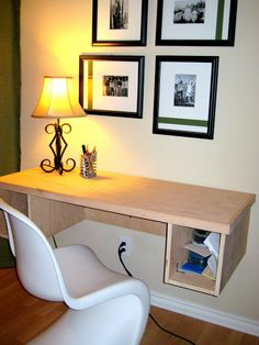 1000 images about home office on pinterest floating for Build your own floating desk