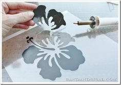How to Make Stencils w/Martha Stewart Multi Purpose Electric Cutting Tool by Plaid & printing on Transparency film from an office supply store :o