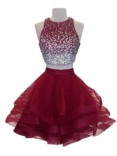 Outlet Splendid A-Line Prom Dress, Burgundy Prom Dress, Prom Dress Two Piece Prom Dress Two Piece Burgundy Prom Dress Homecoming Dresses A-Line Homecoming Dresses 2018 2 Piece Homecoming Dresses, Burgundy Homecoming Dresses, A Line Prom Dresses, Prom Gowns, Quince Dresses Burgundy, Two Piece Quinceanera Dresses, Dress Prom, Graduation Dresses, Grade 8 Grad Dresses