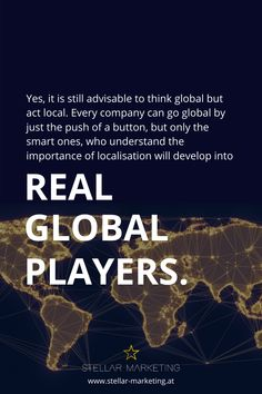 In this era of globalization it has never been easier for companies to expand abroad in order to become a global player. Many brands are still going global without a plan. New Market, Marketing, Be Still, Acting, Blog, How To Become, Advice, How To Plan, Business