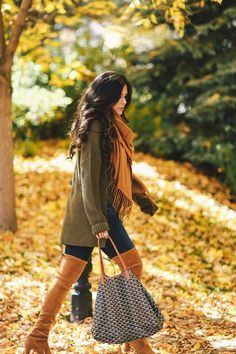 Over The Knee Boots in a Fall Wonderland