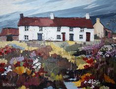 Cottage paintings by a Welsh artist, Beatrice Williams