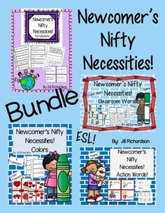 This bundle includes four products to help make your new ELL's transition into your classroom easier!Priced separately: $20.00  You save $5.00!!