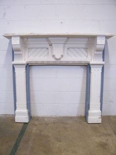 Columbus Architectural Salvage - Painted Wood Victorian Fireplace Mantel