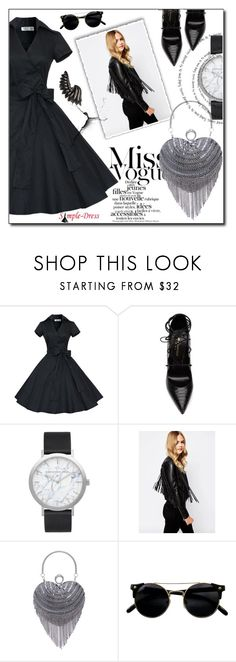 """#91"" by fashion-pol ❤ liked on Polyvore featuring Yves Saint Laurent, Elwood and Roberto Cavalli"
