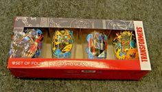 Hasbro Transformers Set of 4 - 8 oz Glasses - Pint Glass #Hasbro