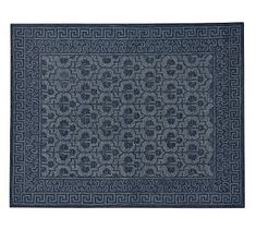 Braylin Rug - Blue #potterybarn, cotton backed with latex $899.00 plus 109.00 delivery surcharge