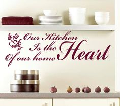 Our kitchen is the heart of our home  Wall art by TopWallStickers