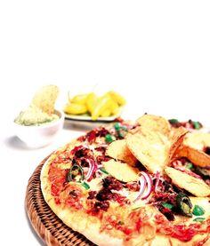 Nordmenn spiser gjerne taco eller pizza på fredager. Dermed må denne tacopizzaen være en ekte fredagpizza!