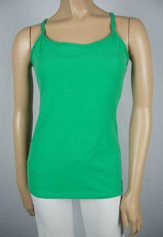 LULULEMON Power Y Tank Top 8 M Green Bra Shelf Support Yoga Run Walk Tunic Shirt