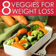 8 Veggies For WeightLoss.. Love these!! #weightlossfoods #weightlossrecipes