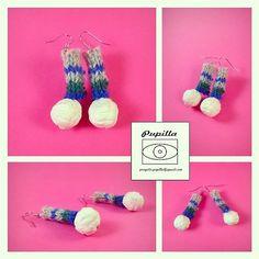 Calzerelli: orecchini di lana di ProgettoPupilla su Etsy