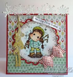 Ski Star Tilda from Magnolia Stamps. http://handstampedbylacey.typepad.com/my_weblog/2014/10/abc-christmas-challenge-v-is-for-very-merry-christmas.html
