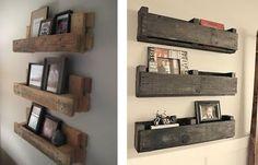 étagères murales en bois de palette