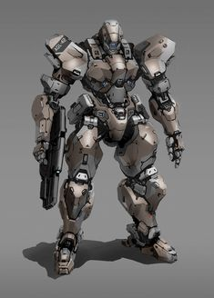 ArtStation - Rifle mech, Aaron de Leon