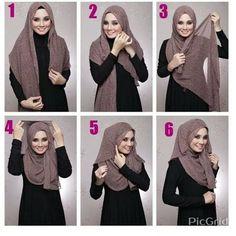 Questions are welcome - Salvabrani Square Hijab Tutorial, Simple Hijab Tutorial, Hijab Style Tutorial, Stylish Hijab, Casual Hijab Outfit, Hijab Dress, Hajib Fashion, Muslim Fashion, How To Wear Hijab
