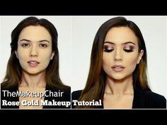 Rose Gold Full Face Makeup Tutorial | TheMakeupChair - YouTube