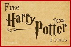 harry potter fonts free for mac