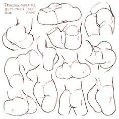 Hintern in allen Bewegungen -   # Female Body Art, Learn To Draw, Female Bodies, Art Sketches, Doodles, Learning, Drawings, People, Tutorials