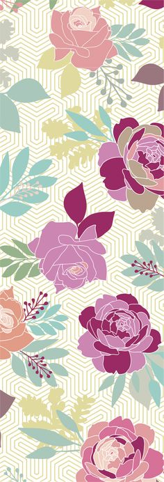 English Rose Garden print by   Lu Haddad