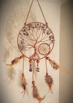 Tree Of Life Dream Catcher hanging with by PrettyThingz4UByMe