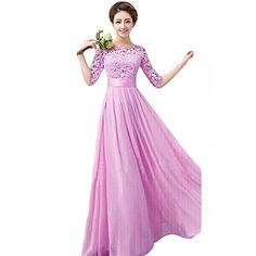 Ouman Sweetheart Bridesmaid Chiffon Prom Dress Long Evening Gown Purple 3XL Ouman http://www.amazon.com/dp/B00T33CH2E/ref=cm_sw_r_pi_dp_CbQdxb1V0TWH1