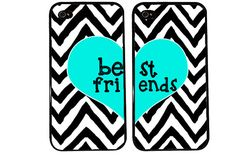BFF Case / Zebra Chevron iPhone 4 Case Best Friends iPhone 5 Case iPhone 4S Case iPhone 5S Case One For Your BFF Set Phone Cases Great Gift on Etsy, $23.00