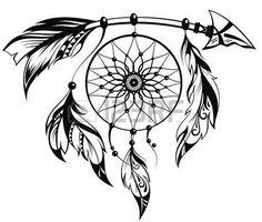 dessin tribal: Main Illustration tirée du capteur de rêves