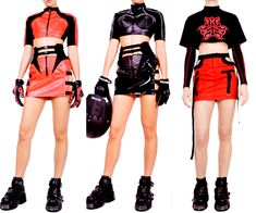 Aesthetic Fashion, Aesthetic Clothes, Cool Outfits, Fashion Outfits, Cyberpunk Fashion, Drawing Clothes, Character Outfits, Costume Design, Runway Fashion