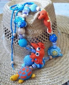 Crafty jewelry: crochet bead... would make a fun.nursing necklace
