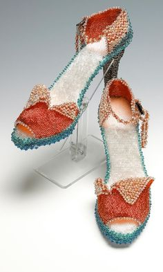 High Heel Shoes with Swarovski® Crystal Beads and Seed Beads - Fire Mountain Gems and Beads