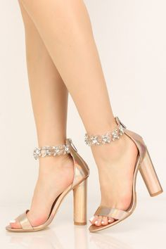 Sandals Heels Rose Gold Holographic Rhinestone Chunky High Heels Don't Forget Your Gar Gold Prom Shoes, Gold Evening Shoes, Rose Gold Heels, Gold High Heels, Chunky High Heels, Rose Gold Block Heels, Stilettos, Stiletto Heels, Quinceanera Shoes