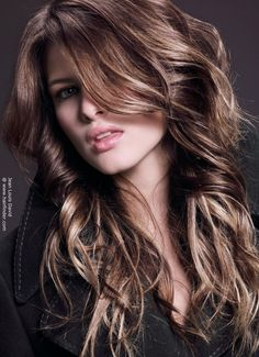 Victorias secret model lily aldridge rich brown hair with subtle the rich brown hair color with blonde highlights increase the power of the cut and create pmusecretfo Images