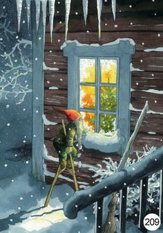 Inge Look Postcard Christmas Gnome, Christmas Art, Vintage Christmas, Illustration Noel, Christmas Illustration, Scandinavian Christmas, Christmas Pictures, Winter Pictures, Illustrators