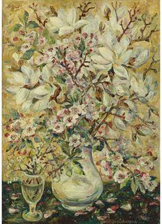 Dogwood Blossoms - Natalia Goncharova